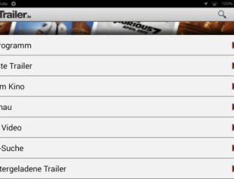 Kurztest zu der CineTrailer App
