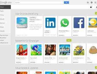 """Mit Benachrichtigungen des Google Play Store immer """"App to Date"""""""