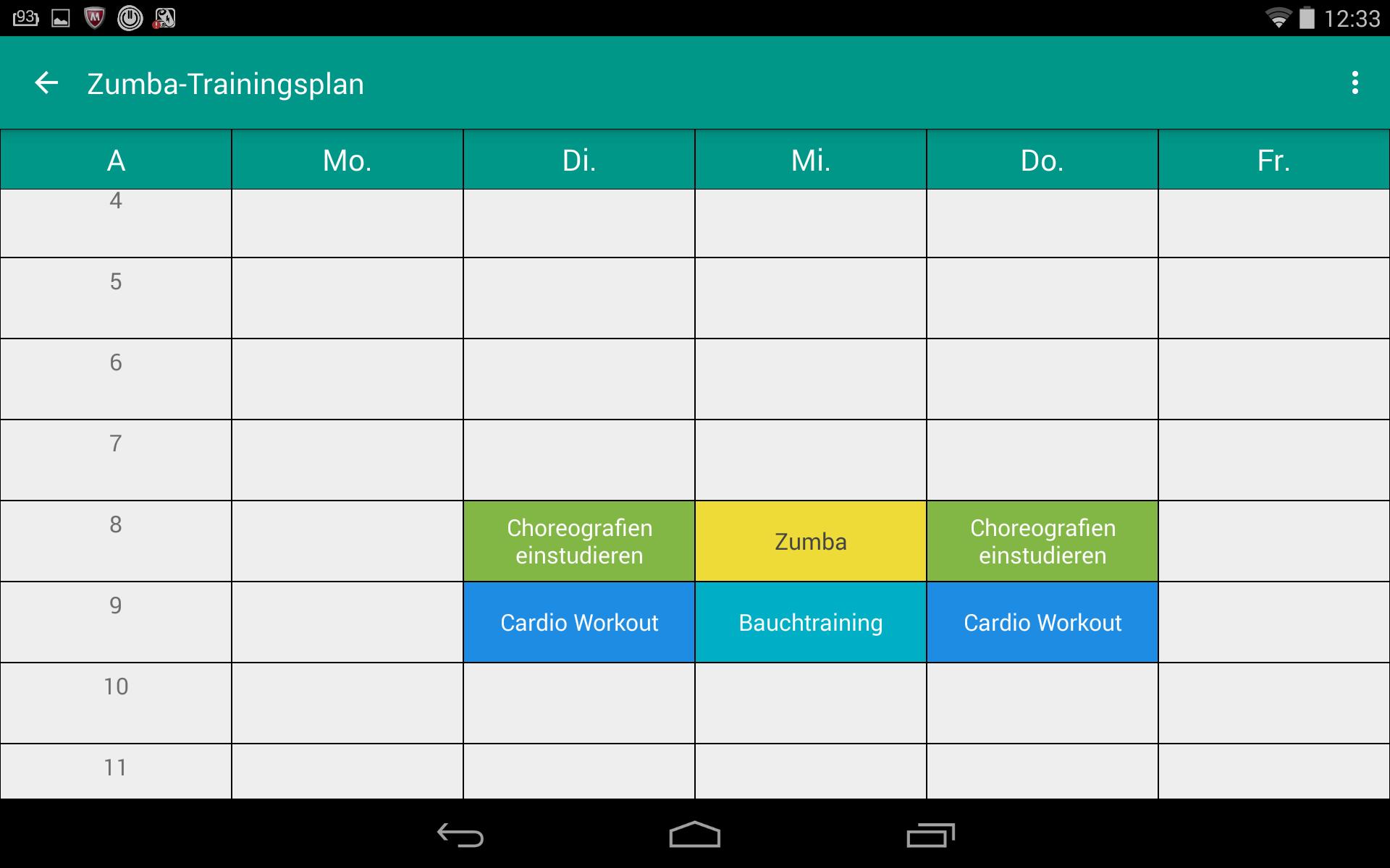 Zeitplanungs-App Stundenplan im Kurztest - Android News